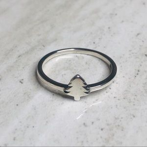 925 Sterling Silver Nature Tree Ring Size 7